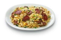 Китайские жареные рисы сосиски, вентилятор chao chang xiang Стоковые Фото