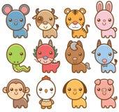 Китайские животные зодиака Стоковые Фото