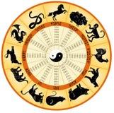 Китайские животные календаря иллюстрация штока