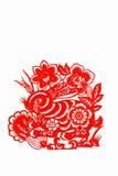 китайские зайцы вырезывания завертывают зодиак в бумагу Стоковые Изображения