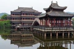 китайские здания Стоковое Изображение