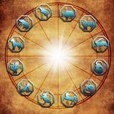 Китайские знаки зодиака астрологии как концепция фарфора эзотерическая стоковые изображения rf