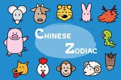 Китайские значки зодиака бесплатная иллюстрация