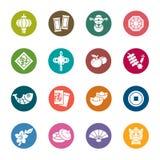 Китайские значки цвета Нового Года Стоковые Изображения RF