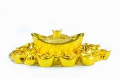 китайские золотые инготы стоковые фотографии rf