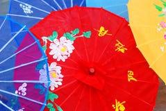 китайские зонтики ткани Стоковое фото RF