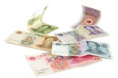 китайские изолированные валюты Стоковая Фотография RF