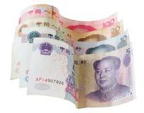 китайские изолированные деньги Стоковые Изображения