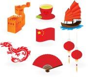 китайские иконы Стоковое Фото