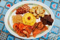 китайские ингридиенты тарелки различные Стоковые Фото