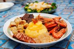 китайские ингридиенты тарелки различные Стоковое Изображение RF