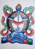 Китайские картины искусства иллюстрация штока