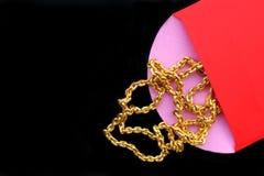 Китайские красные карманн и золото Стоковое Фото