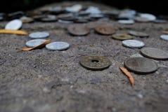 Китайские монетки (юани) Стоковое Фото