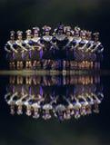 Китайские национальные танцоры группы стоковое изображение rf