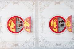 Китайские окна виска Стоковая Фотография