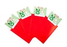 Китайские пакеты красного цвета Нового Года Стоковое Изображение