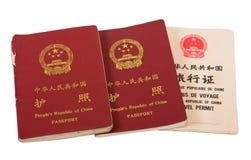 китайские пасспорты стоковое изображение