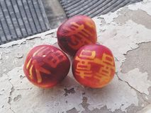 Китайские персики стоковые изображения