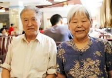 китайские пожилые люди пар Стоковая Фотография