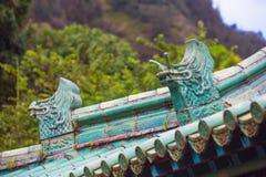 Китайские драконы крыши Стоковое Фото