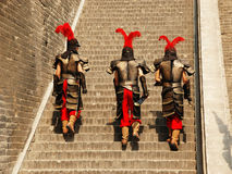 Китайские ратники, который нужно работать Стоковые Изображения