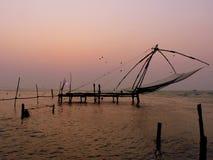 китайские рыболовные сети Стоковые Изображения RF