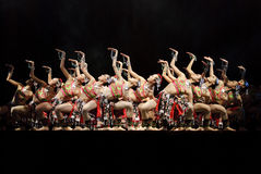 Китайские самомоднейшие танцоры стоковые изображения rf