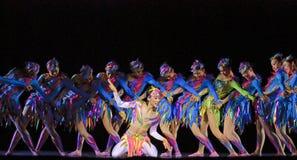 Китайские самомоднейшие танцоры стоковое фото