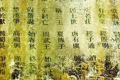китайские слова Стоковое фото RF