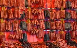 Китайские сосиски и вылеченные мяс Стоковое фото RF