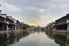 Китайские стародедовские городки Стоковая Фотография RF