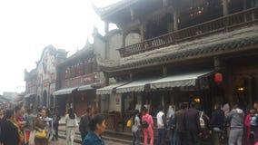Китайские стародедовские городки Стоковые Изображения RF