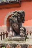 Китайские старые каменные львы Стоковое Изображение RF