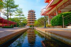 Китайские старые пагода и rill под небом стоковые фотографии rf