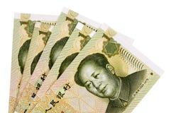 Китайские счеты валюты юаней Стоковая Фотография