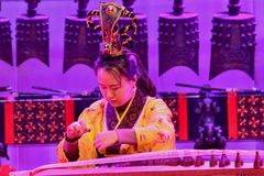Китайские традиционные мюзикл и культурное событие стоковое изображение rf