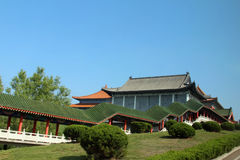 Китайские традиционные здания Стоковое фото RF