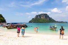 Китайские туристы в Таиланде Стоковое Изображение