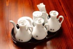 Китайские уксус и бутылка соевого соуса Стоковое Изображение RF