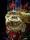 Китайские удачливые шармы в Чайна-тауне Бангкоке Таиланде на китайском Новом Годе 2015 Стоковое фото RF