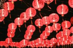 китайские фонарики красные Стоковое фото RF