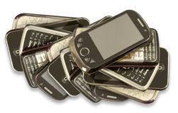 Китайские франтовские телефоны Стоковое Изображение RF