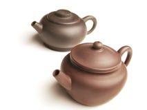 китайские чайники пар глины Стоковое Изображение