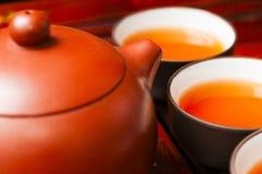 Китайские чайник и чашка Стоковые Изображения