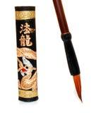китайские чернила hieroglyphics Стоковое фото RF