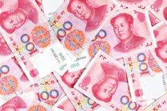 Китайские юани renminbi Стоковые Фотографии RF