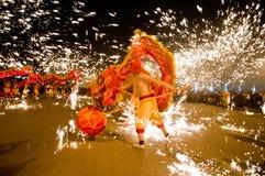 Китайские люди дракона Стоковые Фотографии RF