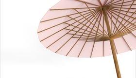 Китайские ясность rad зонтика и предпосылка изолята стоковое изображение