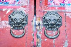 китайские knockers двери Стоковое Изображение